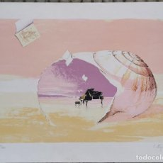 Arte: LITOGRAFIA SERGI CASTIGNANI - SONATA MARINA (1998) NUMERADA P/A XIV/XXV PRUEBA AUTOR (14/25) / C-22. Lote 194219498