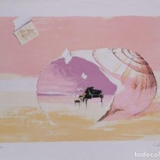 Arte: LITOGRAFIA SERGI CASTIGNANI - SONATA MARINA (1998) NUMERADA P/A XX/XXV PRUEBA AUTOR (10/25) / C-25. Lote 194219771