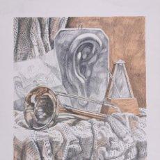 Arte: LITOGRAFIA XAVIER NOGUER BALLESTA ALEGORIA A LA MUSICA NUMERADA P/A I/XXV PRUEBA AUTOR (1/25) / C-27. Lote 194220168