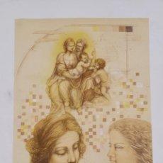 Arte: LITOGRAFIA LAURA SAURI FAJULA (HOMENATGE A LEONARDO) NUMERADA 12 / 55 - 63 X 48 CM / C-29. Lote 194220817