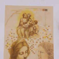 Arte: LITOGRAFIA LAURA SAURI FAJULA - HOMENATGE A LEONARDO - NUMERADA 24 / 55 - 63 X 48 CM / C-31. Lote 194221006