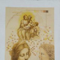 Arte: LITOGRAFIA LAURA SAURI FAJULA - HOMENATGE A LEONARDO - NUMERADA 14 / 55 - 63 X 48 CM / C-32. Lote 194221085