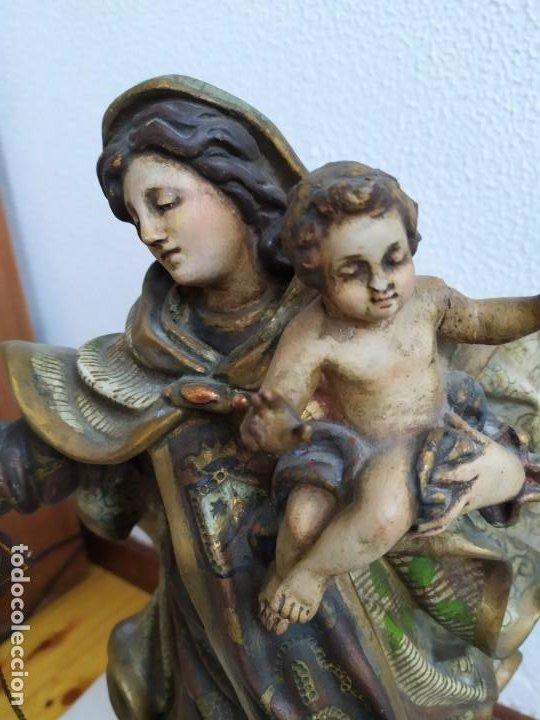Arte: Virgen del Carmen. s.XIX-XX - Foto 5 - 194222427