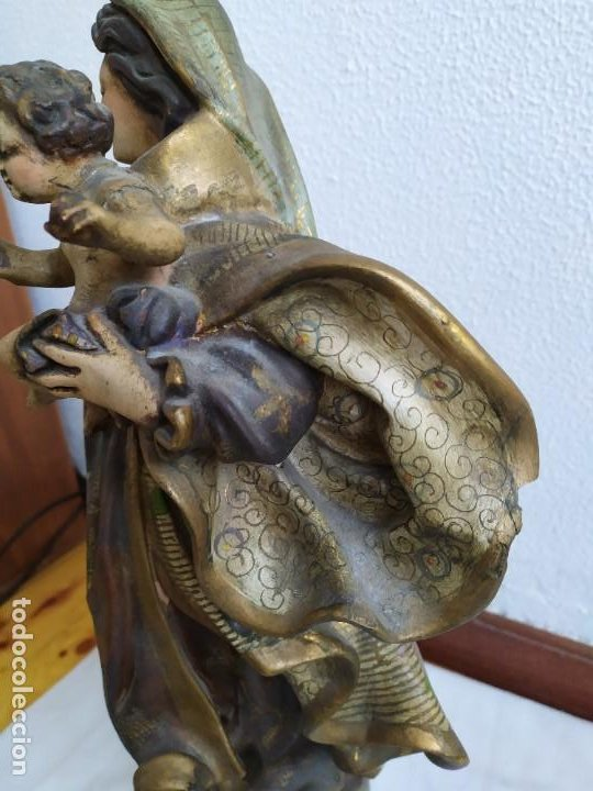 Arte: Virgen del Carmen. s.XIX-XX - Foto 7 - 194222427