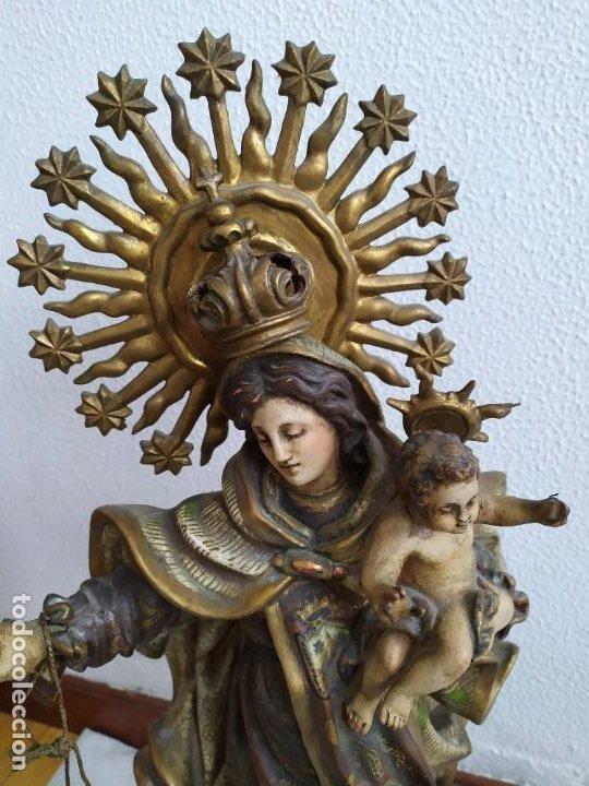 Arte: Virgen del Carmen. s.XIX-XX - Foto 2 - 194222427