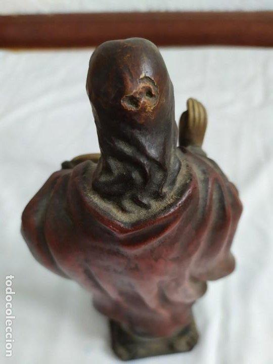 Arte: Antigua figura Sagrado Corazón - Foto 5 - 194223401