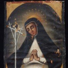 Arte: VIRGEN DE LA PALOMA. ÓLEO SOBRE LIENZO. ESC. ESPAÑOLA, SIGLO XVII. MEDIDAS: 41X 28 CM.. Lote 194246780