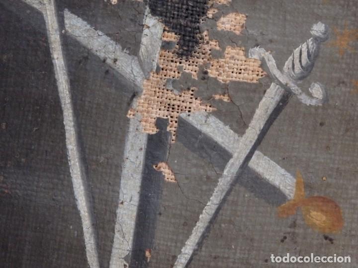 Arte: Virgen de la Paloma. Óleo sobre lienzo. Esc. Española, siglo XVII. Medidas: 41x 28 cm. - Foto 8 - 194246780