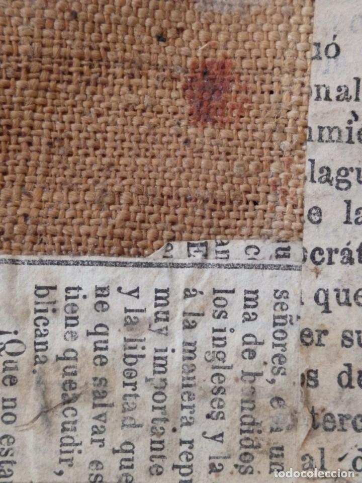 Arte: Virgen de la Paloma. Óleo sobre lienzo. Esc. Española, siglo XVII. Medidas: 41x 28 cm. - Foto 14 - 194246780