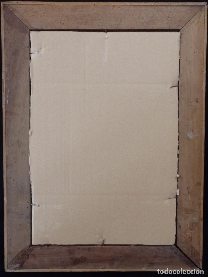 Arte: Virgen de la Paloma. Óleo sobre lienzo. Esc. Española, siglo XVII. Medidas: 41x 28 cm. - Foto 20 - 194246780
