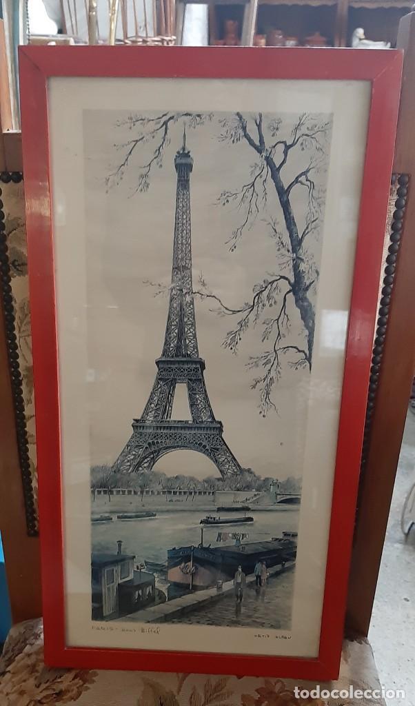 Arte: litografia paris ortiz alfau - Foto 3 - 194247417