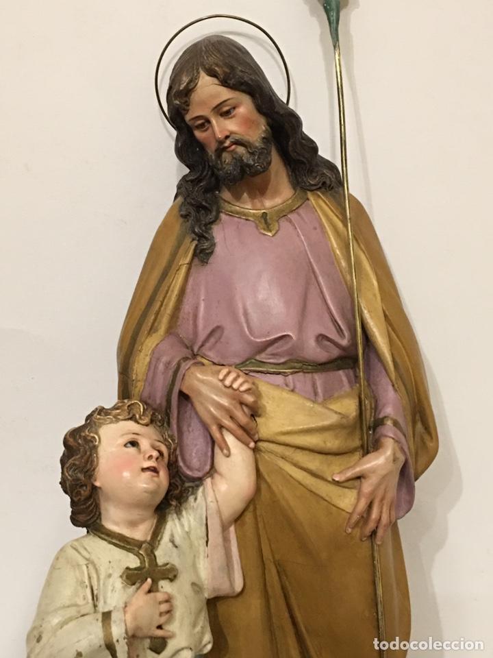 Arte: SAN JOSÉ CON EL NIÑO JESÚS - ANTIGUA FIGURA DE OLOT - EL ARTE RELIGIOSO - Foto 3 - 194249015