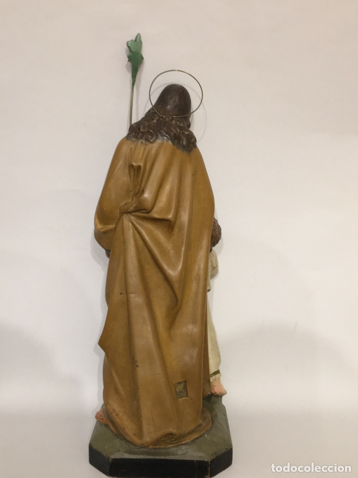 Arte: SAN JOSÉ CON EL NIÑO JESÚS - ANTIGUA FIGURA DE OLOT - EL ARTE RELIGIOSO - Foto 5 - 194249015