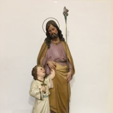 Arte: SAN JOSÉ CON EL NIÑO JESÚS - ANTIGUA FIGURA DE OLOT - EL ARTE RELIGIOSO. Lote 194249015
