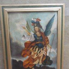 Arte: ARCANGEL OLEO SOBRE LIENZO FIRMADO. Lote 194262881