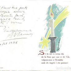 Arte: NADAL 1946. EXEMPLAR ÚNIC DESTINAT AL POETA TOMÀS GARCÉS. AUTOR: J. COMMELERAN (1902-1992). 16X10CM. Lote 194268168