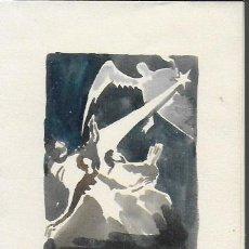 Arte: NADAL 1950. EXEMPLAR ÚNIC DESTINAT AL POETA TOMÀS GARCÉS. AUTOR: J. COMMELERAN (1902-1992). 17X12CM. Lote 194268751