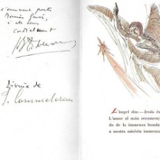 Arte: NADAL 1947. EXEMPLAR ÚNIC DESTINAT AL POETA TOMÀS GARCÉS. AUTOR: J. COMMELERAN (1902-1992). 18X12CM. Lote 194269053