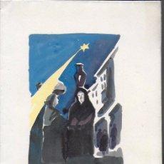 Arte: NADAL 1952. EXEMPLAR ÚNIC DESTINAT AL POETA TOMÀS GARCÉS. AUTOR: J. COMMELERAN (1902-1992). 25X17CM. Lote 194269372