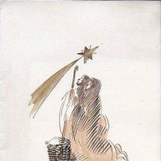 Arte: NADAL 1953. EXEMPLAR ÚNIC DESTINAT AL POETA TOMÀS GARCÉS. AUTOR: J. COMMELERAN (1902-1992). 25X18CM. Lote 194269602