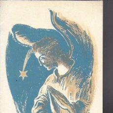 Arte: NADAL 1945. EXEMPLAR ACOLORIT A MÀ PER AL POETA TOMÀS GARCÉS. AUTOR: J. COMMELERAN (1902-1992).. Lote 194270003