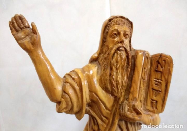 Arte: Talla en Madera de Olivo de Moisés con Los 10 Mandamientos.Hecho a Mano en Belén. - Foto 4 - 194305160