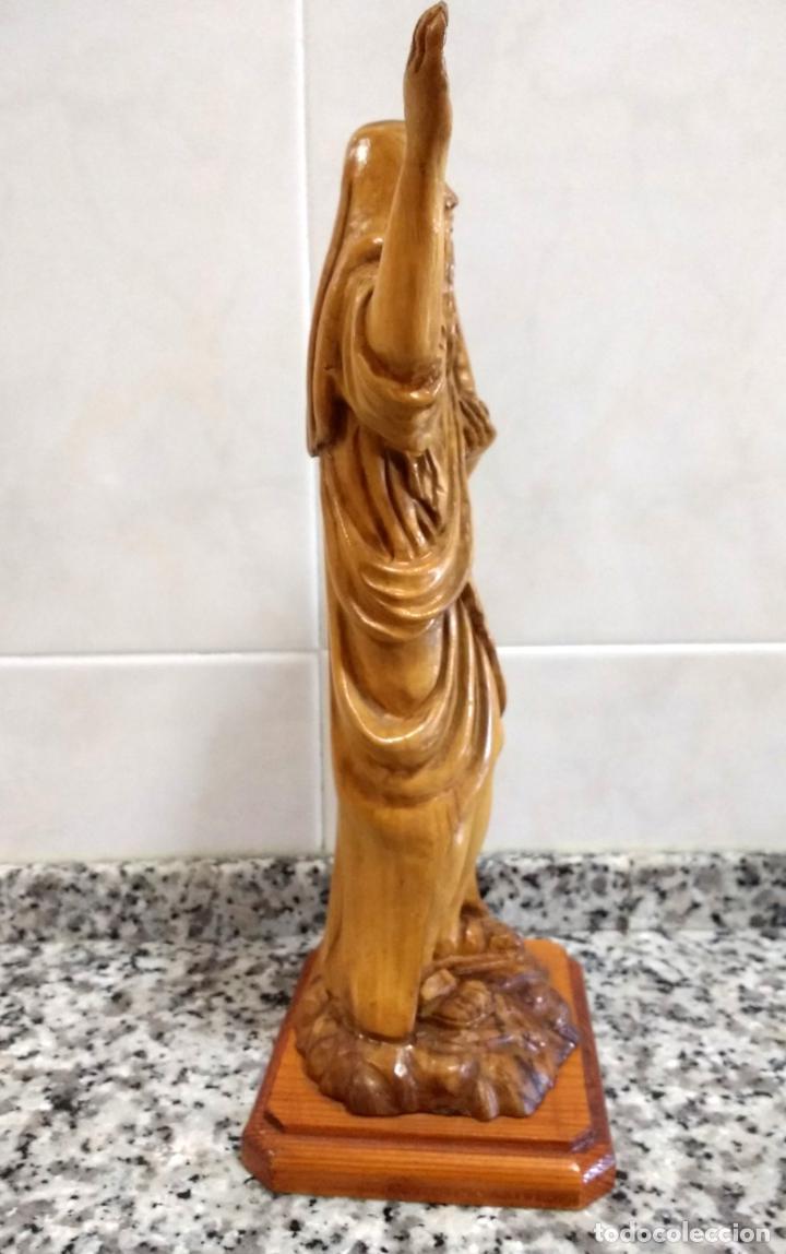 Arte: Talla en Madera de Olivo de Moisés con Los 10 Mandamientos.Hecho a Mano en Belén. - Foto 6 - 194305160