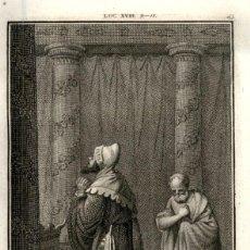 Arte: 1820 ORIGINAL - BIBLIA - BIBLE - NUEVO TESTAMENTO - CARL SCHULER – FREIBURGO - GRABADO ORIGINAL. Lote 194307695