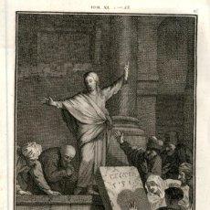 Arte: 1820 ORIGINAL - BIBLIA - BIBLE - NUEVO TESTAMENTO - CARL SCHULER – FREIBURGO - GRABADO ORIGINAL. Lote 194307783