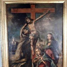 Arte: CRUCIFIXIÓN. ÓLEO SOBRE COBRE. BARROCO. SIGLO XVII-XVIII.. Lote 194310061