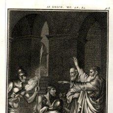 Arte: 1820 ORIGINAL - BIBLIA - BIBLE - NUEVO TESTAMENTO - CARL SCHULER – FREIBURGO - GRABADO ORIGINAL. Lote 194310271