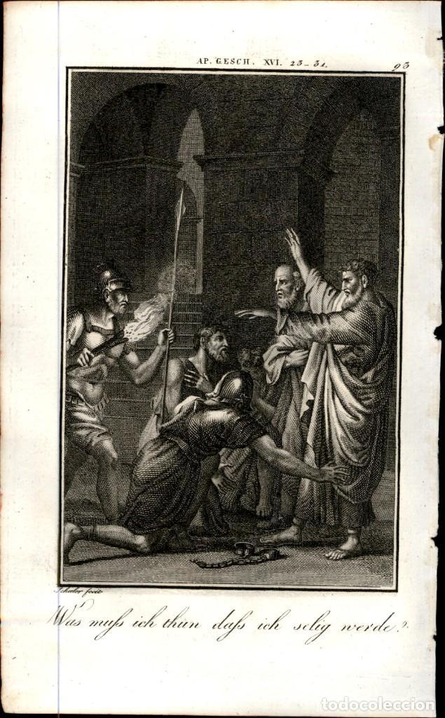 Arte: 1820 Original - Biblia - Bible - Nuevo Testamento - Carl Schuler – Freiburgo - Grabado original - Foto 2 - 194310271