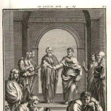 Arte: 1820 ORIGINAL - BIBLIA - BIBLE - NUEVO TESTAMENTO - CARL SCHULER – FREIBURGO - GRABADO ORIGINAL. Lote 194310312