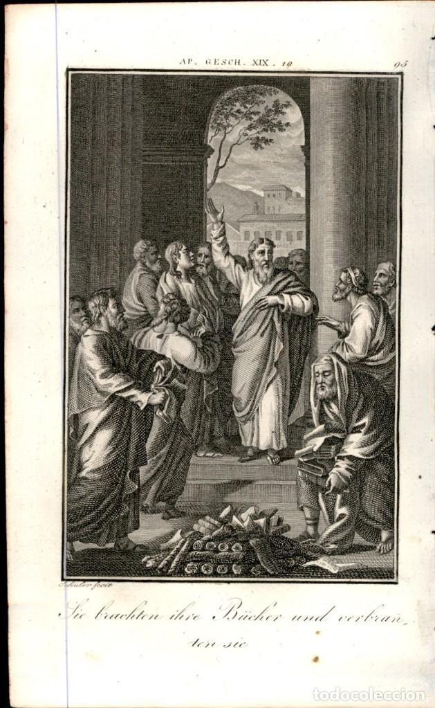 Arte: 1820 Original - Biblia - Bible - Nuevo Testamento - Carl Schuler – Freiburgo - Grabado original - Foto 2 - 194310345