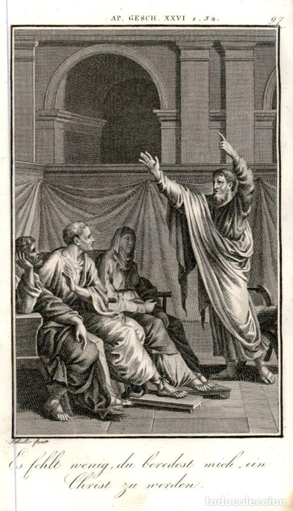 1820 ORIGINAL - BIBLIA - BIBLE - NUEVO TESTAMENTO - CARL SCHULER – FREIBURGO - GRABADO ORIGINAL (Arte - Arte Religioso - Grabados)