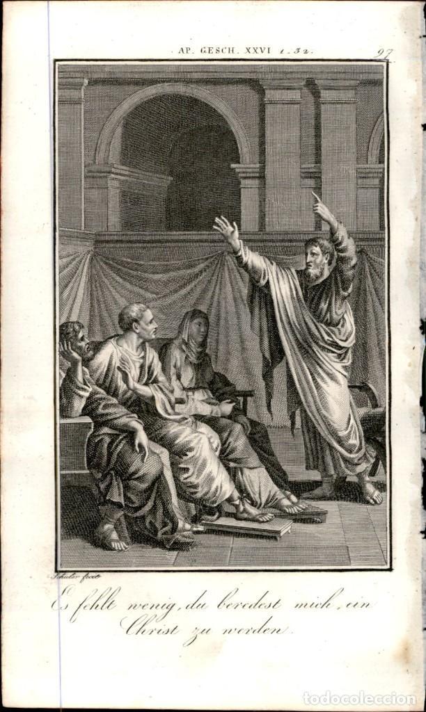 Arte: 1820 Original - Biblia - Bible - Nuevo Testamento - Carl Schuler – Freiburgo - Grabado original - Foto 2 - 194310475