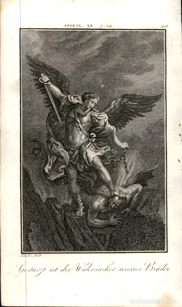 Arte: 1820 Original - Biblia - Bible - Nuevo Testamento - Carl Schuler – Freiburgo - Grabado original - Foto 2 - 194310487