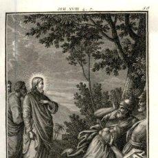 Arte: 1820 ORIGINAL - BIBLIA - BIBLE - NUEVO TESTAMENTO - CARL SCHULER – FREIBURGO - GRABADO ORIGINAL. Lote 194310682