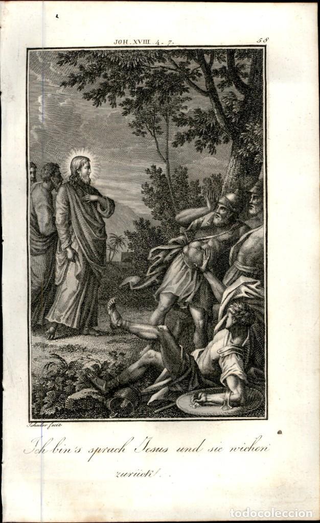 Arte: 1820 Original - Biblia - Bible - Nuevo Testamento - Carl Schuler – Freiburgo - Grabado original - Foto 2 - 194310682