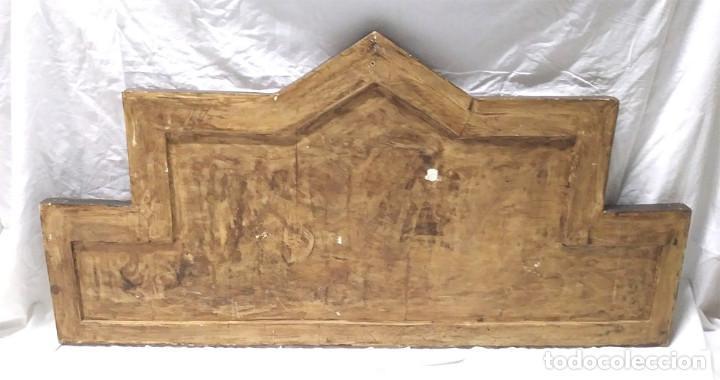 Arte: Retablo Virgen Maria Niño Jesus y Santos estilo Gótico, Oleo sobre madera, dorados pan de oro - Foto 7 - 245094645