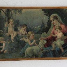 Arte: CROMOLITOGRAFÍA GRAN FORMATO -ESCENA RELIGIOSA-.. Lote 194318161
