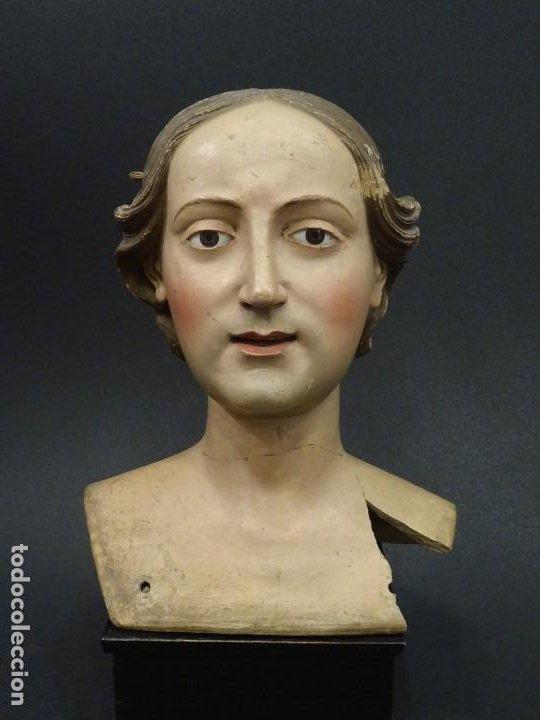 Arte: Cabeza de María Magdalena en terracota napolitana, S.XVIII - Foto 21 - 194326406