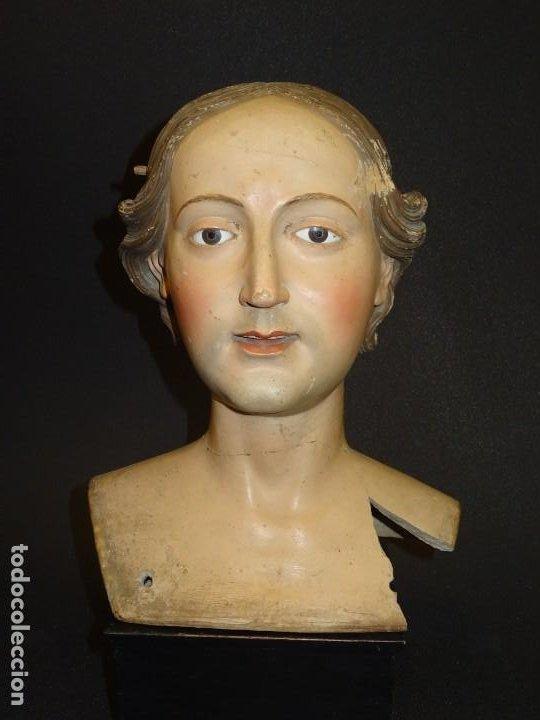 Arte: Cabeza de María Magdalena en terracota napolitana, S.XVIII - Foto 2 - 194326406