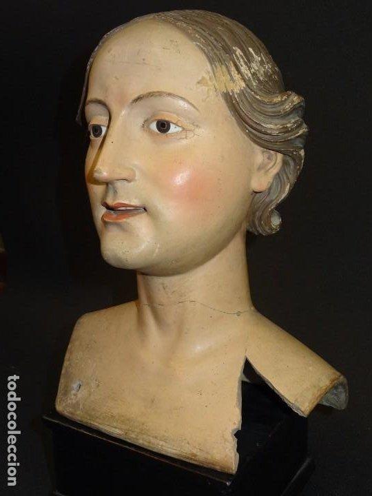 Arte: Cabeza de María Magdalena en terracota napolitana, S.XVIII - Foto 4 - 194326406