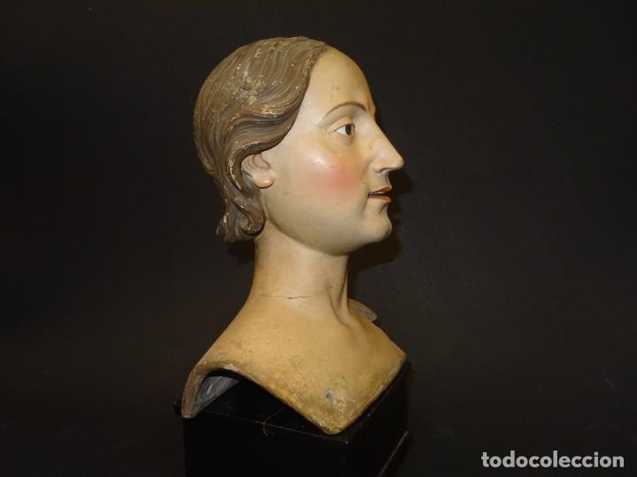 Arte: Cabeza de María Magdalena en terracota napolitana, S.XVIII - Foto 5 - 194326406