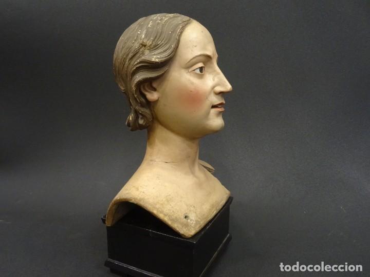 CABEZA DE MARÍA MAGDALENA EN TERRACOTA NAPOLITANA, S.XVIII (Arte - Arte Religioso - Escultura)