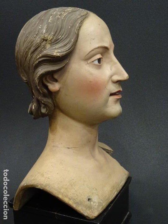 Arte: Cabeza de María Magdalena en terracota napolitana, S.XVIII - Foto 6 - 194326406