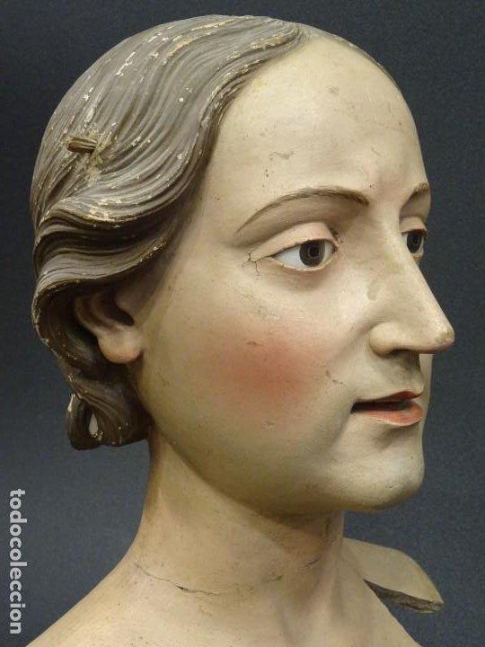 Arte: Cabeza de María Magdalena en terracota napolitana, S.XVIII - Foto 7 - 194326406
