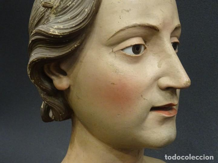 Arte: Cabeza de María Magdalena en terracota napolitana, S.XVIII - Foto 8 - 194326406