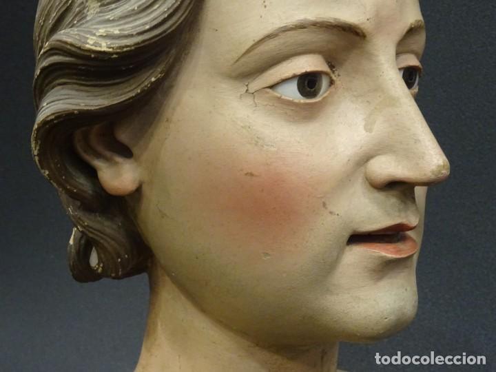 Arte: Cabeza de María Magdalena en terracota napolitana, S.XVIII - Foto 9 - 194326406